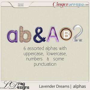 Lavender Dreams: Alphas by LDragDesigns