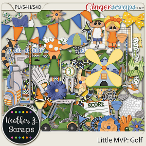 Little MVP: Golf ELEMENTS by Heather Z Scraps