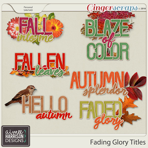 Fading Glory Titles by Aimee Harrison