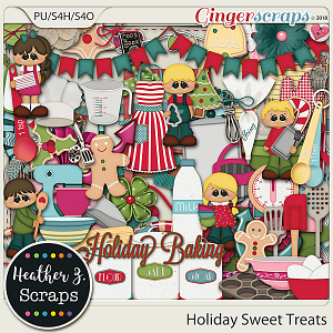 Holiday Sweet Treats ELEMENTS by Heather Z Scraps