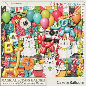 Cake & Balloons (page kit)