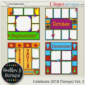 Celebrate 2018 TEMPLATES VOL. 3 by Heather Z Scraps
