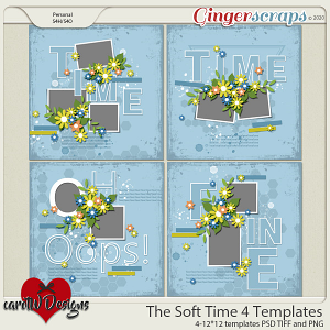 The Soft Time 4 Templates by CarolW Designs