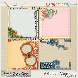 A Golden Afternoon Page Pack from Designs by Lisa Minor