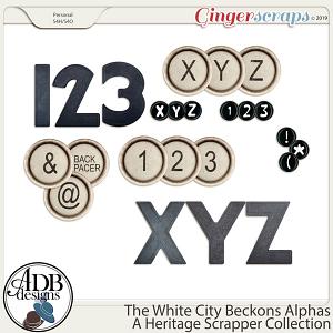 The White City Beckons Alphas by ADB Designs
