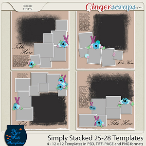 Simply Stacked 25-28 Templates by Miss Fish