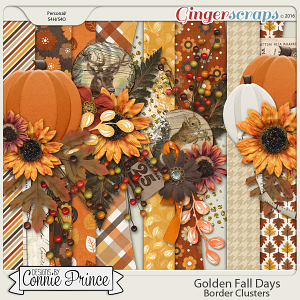 Golden Fall Days - Border Clusters