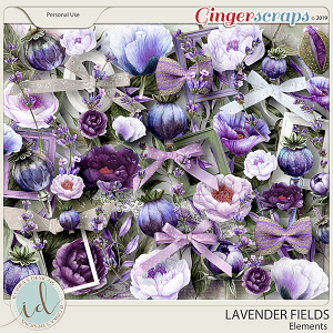 Lavender Fields Elements by Ilonka's Designs