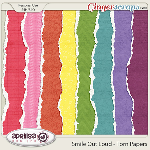 Smile Out Loud - Torn Papers by Aprilisa Designs
