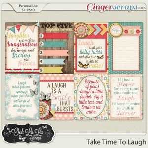 Take Time To Laugh Journal and Pocket Scrapbooking Cards