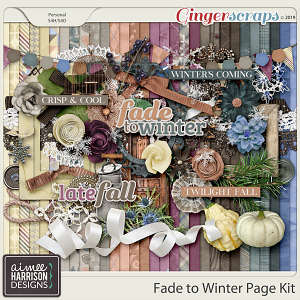 Fade to Winter Page Kit by Aimee Harrison
