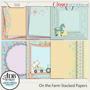 On the Farm Stacked Papers by ADB Designs