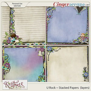 U Rock Stacked Papers (layers)