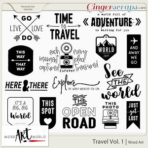 Travel Vol. 1 Word Art
