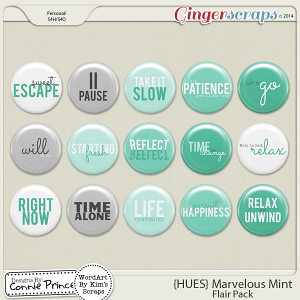 {HUES} Marvelous Mint - Flair Pack