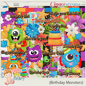 Birthday Monsters-Page Kit