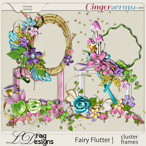 Fairy Flutter: Frame Clusters by LDragDesigns