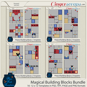Magical Building Blocks Template Bundle by Miss Fish Templates