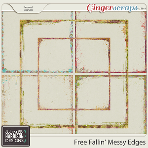 Free Fallin' Messy Edges by Aimee Harrison