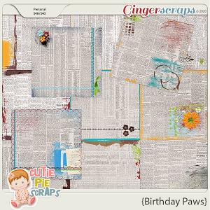 Birthday Paws NewsPapers
