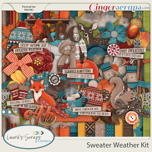Sweater Weather Page Kit