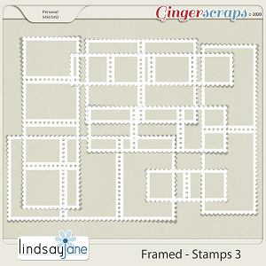 Framed Stamps 3 by Lindsay Jane