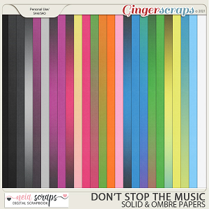 Don't Stop the Music - Solid & Ombre Papers - by Neia Scraps