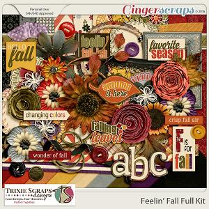 Feelin' Fall Full Kit by Trixie Scraps Designs