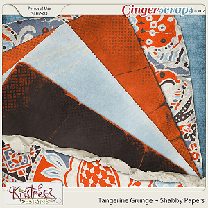 Tangerine Grunge Shabby Papers