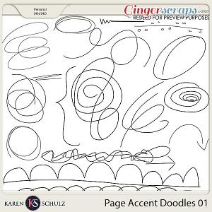 Page Accent Doodles 01 by Karen Schulz