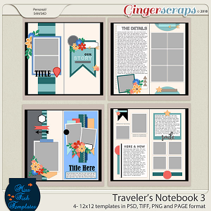 Traveler's Notebook 3 Templates by Miss Fish