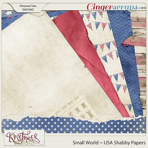 Small World ~ USA Shabby Papers