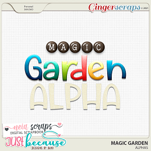 Magic Garden Alphas by JB Studio and Neia Scraps