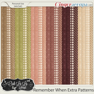 Remember When Extra Pattern Papers