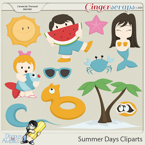 Doodles By Americo: Summer Days Cliparts