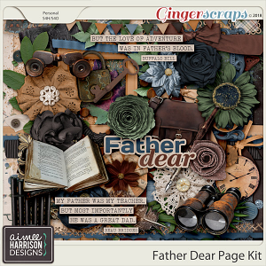 Father Dear Page Kit by Aimee Harrison