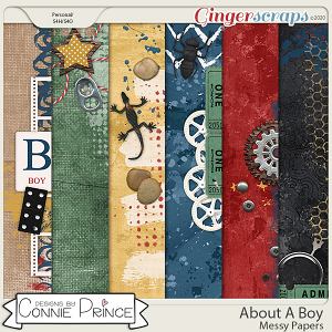 About A Boy - Messy Papers by Connie Prince