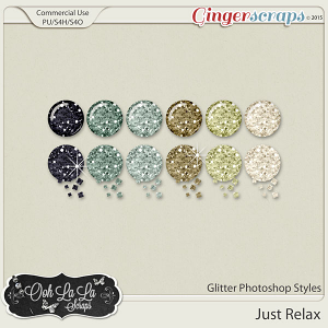 Just Relax Glitter Photoshop Styles