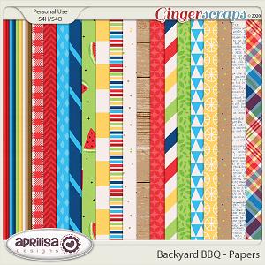 Backyard BBQ - Papers by Aprilisa Designs