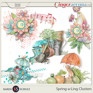 Spring-a-Ling Clusters by Snickerdoodle Designs