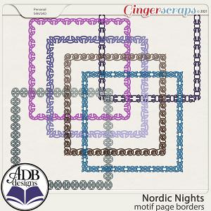 Nordic Nights Page Borders by ADB Designs