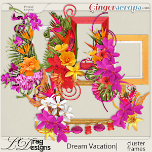 Dream Vacation: Cluster Frames by LDragDesigns