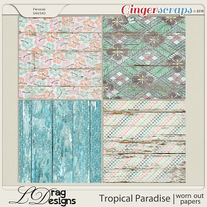 Tropical Paradise: Worn Out Papers by LDragDesigns