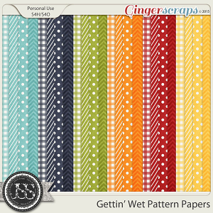 Gettin Wet Pattern Papers