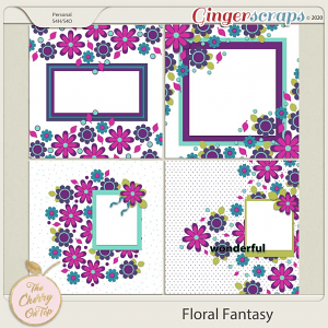 The Cherry On Top:  Floral Fantasy Templates