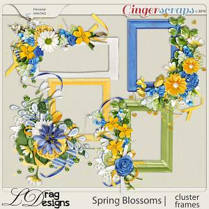 Spring Blossoms: Cluster Frames by LDragDesigns