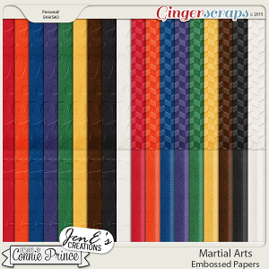 Martial Arts - Embossed Papers