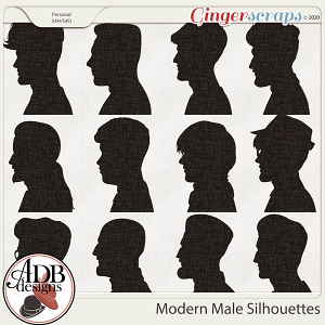 Heritage Resource - Modern Male Silhouettes by ADB Designs