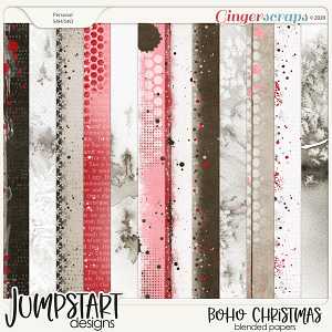 Boho Christmas {Blended Papers}
