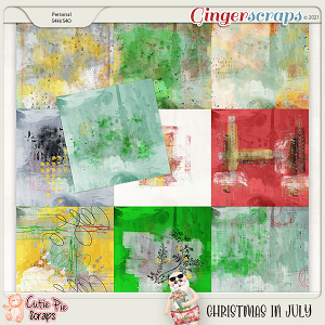 Christmas In July Painted Papers